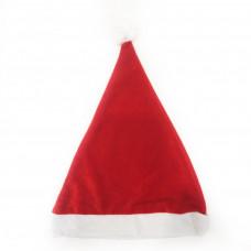 Красный новогодний бархатный колпак