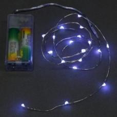 Светодиодная гирлянда на батарейках Нить 30 led огней, 3 м