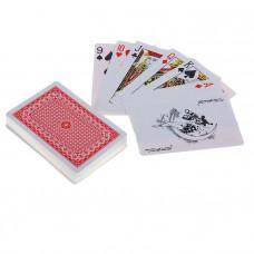 Бумажные игральные карты в пластиковой коробке OKROYAL, 54 шт