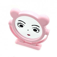 Круглое настольное двустороннее зеркало с ушками Mirror, 15 см