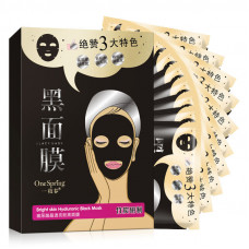 Черная маска для лица с гиалуроновой кислотой ONE SPRING 30гр