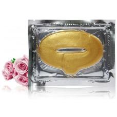 Золотая маска для губ с коллагеном