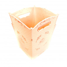 Пластиковая декоративная корзина с ручками, 18х18х25 см