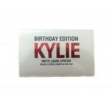 Набор жидкой матовой помады Kylie Birthday Edition (красный), 6 шт