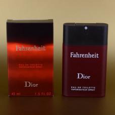 Мужской мини-парфюм Christian Dior Fahrenheit 45 мл