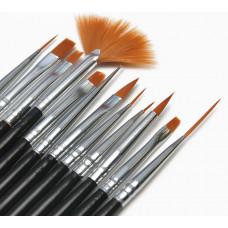Набор кистей для дизайна ногтей Nail Art Brush 12 шт.