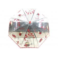 Детский прозрачный виниловый зонтик
