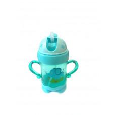 Детская бутылочка-поильник с рисунком и трубочкой, 250 мл