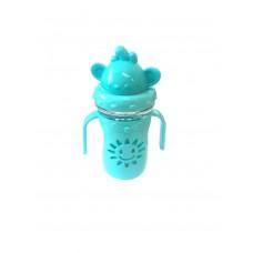Детская бутылочка-поильник с трубочкой СОЛНЫШКО,300 мл